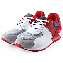 Lace Up Ladies Sports Shoes - Red