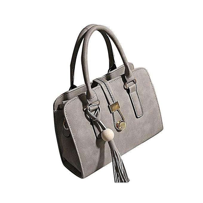 Hiamok Fashion Women Handbags Shoulder Bags Tote Bag Female Retro Messenger  Bag GY - Grey a25e77d48bcee