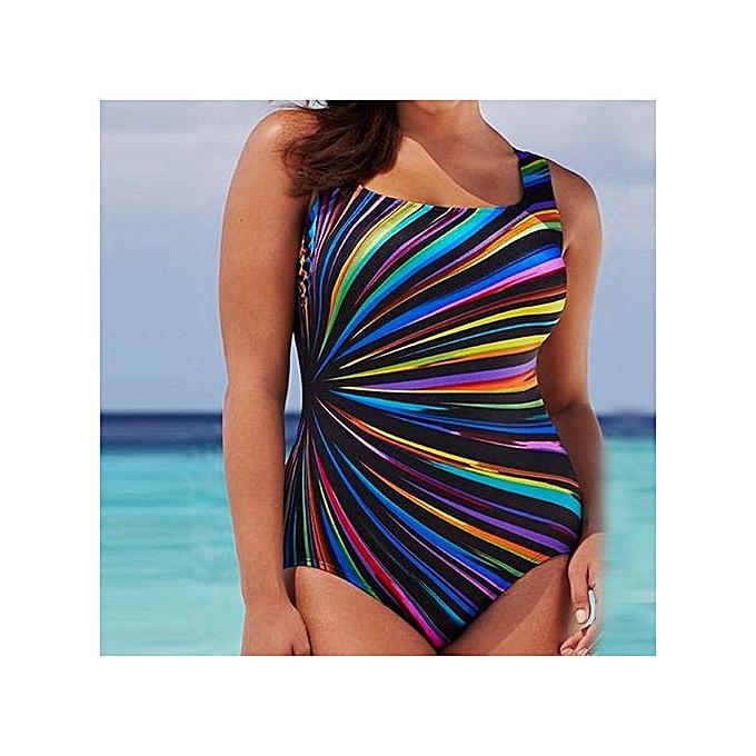 410bbfa87f ... Tectores Womens Swimming Costume Padded Swimsuit Monokini Swimwear Push  Up Bikini Sets Gift - Multi ...