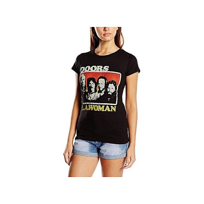 8f8cac1c The Doors Women's LA Woman T-Shirt Loose Short Sleeve Summer Fashion Women's  ...