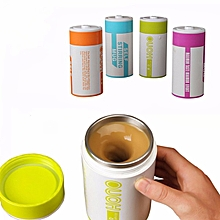 Battery Shape Automatic Coffee Mixing Cup Stainless Steel Milk Mixing Cup Vacuum Insulation Cup
