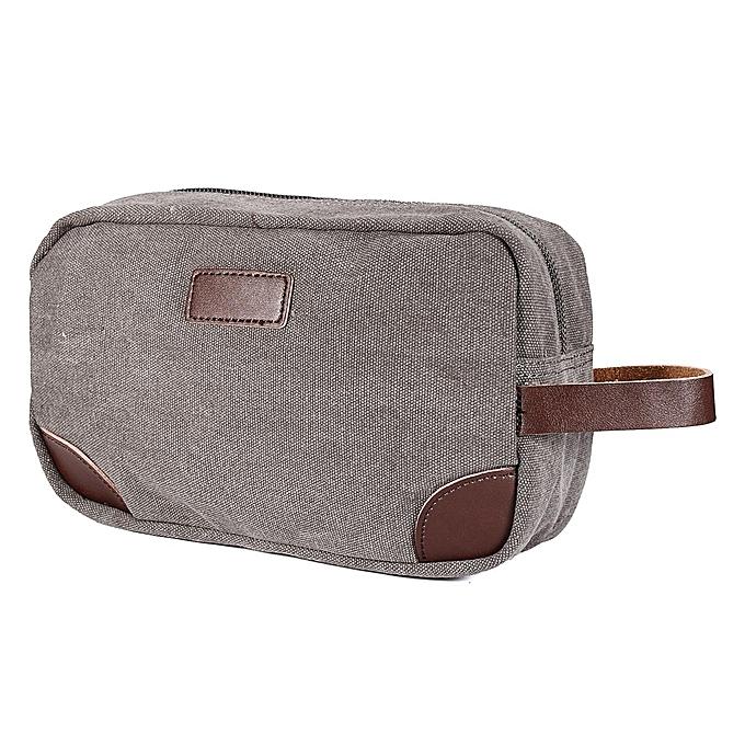 Mens Black Brown Toiletry Bag Travel Wash Shower Organizer Kit Cosmetic Grey