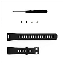 CO Silicone Smart Bracelet Replacement Strap Watchband for GARMIN VIVOSMART HR-black