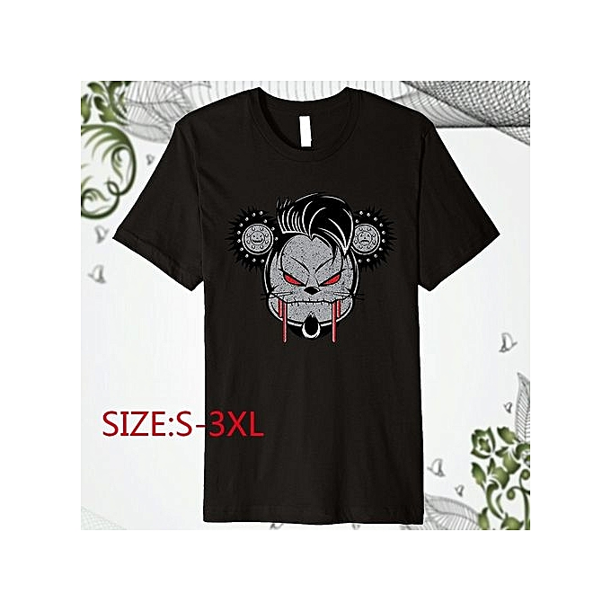 496a4a0c246 Cool Halloween Of Mouse Hot Sale Letter Printed Tops Casual Crew Neck Men  Cotton Short Sleeve