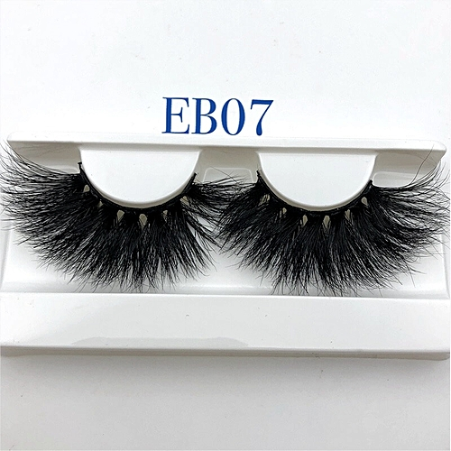 2c255eb9391 Generic New arrival mink lashes 25mm natural long 3D mink strip fur  handmade eyelashes wholesale price(EB07 only tray)