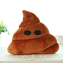 Africanmall store Mini Saliva Emoji Emoticon Cushion Poo Shape Pillow Doll Toy Throw Pillow -brown