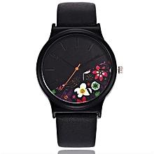 Olivaren Vansvar Women's Casual Quartz Leather Band Newv Strap Watch Analog Wrist WatchBlack