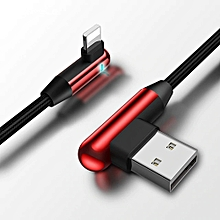 IPHONE Double Head Angled Charging Data Cable With Indicator 1.2M