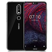 "Nokia X6 - 5.8"" (4GB, 64GB ROM), Android 8.1, 16.0MP + 5.0MP, Fingerprint Sensor Face ID - BLACK"