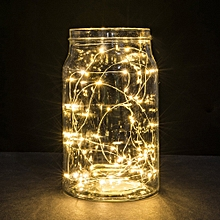 3M 30LED Button Cell Powered Silver Copper Wire Mini Fairy String Lights YE
