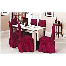 Dining Seat Covers –6pcs maroon