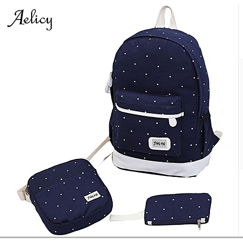 e8c45b183 canvas backpack women dot school bag for teenagers girls high quality  female backpacks Preppy Style composite bags