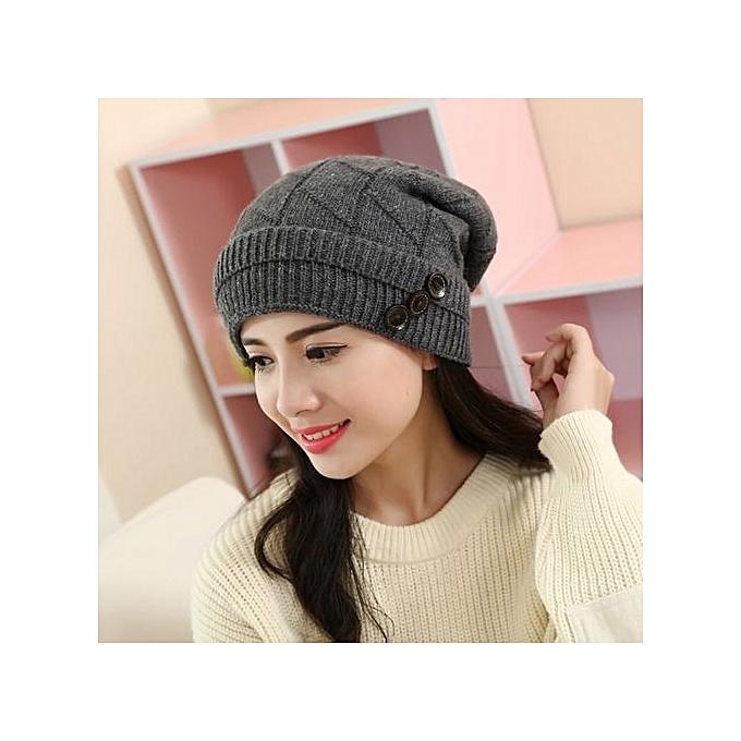 1cc0f6f816d62 Eissely Fashion Women Hat Winter Warm Knit Crochet Slouch Hat GY ...