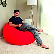 Inflatable seat - Red with a free pump