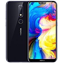 Nokia X6 5.8-inch (4GB, 64GB ROM) Android 8.1, 16MP+16MP, 3060mAh, Dual Sim 4G LTE Smartphone - Blue
