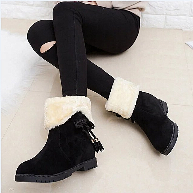 84982ff44 hiamok Snow Boots Winter Ankle Boots Women Shoes Heels Winter Boots Fashion  Shoes BK/36