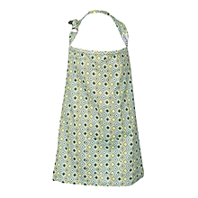 Brown, Blue & Yellow Checked Print Nursing / Breastfeeding Cover With Carrier Pouch
