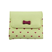 Technologg Wallet  Fashion Bow Love Short Clamshell Purse Wallet Girl Wallet Card Package YE-As Show