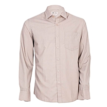 Beige Long Sleeved Men's Official Shirt