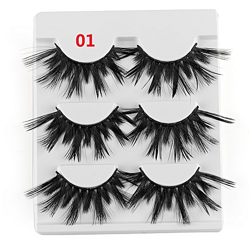 4cd8d7eb353 25mm Wi Fluffy Lashes 3/7 Pairs 3D Faux Mink Hair False Eyelashes Thick Long