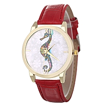Africanmall store Women Quartz Analog Wrist Dial Delicate Watch Luxury Watches-Red