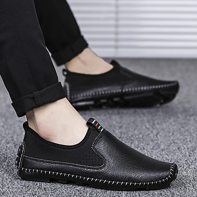 b0eb944d70d Popular Casual Shoes Slip On Loafers Driving Shoes Leather Shoes For Men  Plus Big Size 38