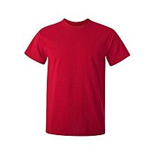 Red Slim Fit Plain T-Shirt