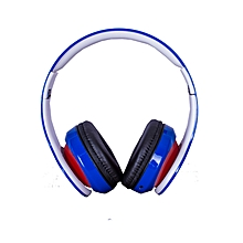 Blue Headphones - Bluetooth/FM/SD BLUE -RED