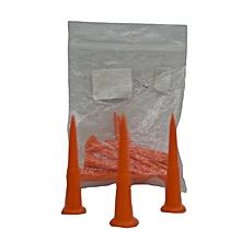 Tees Plastic 2 1/8'' (pkt 10)- Yellow-