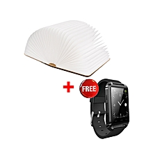 Gideons Lumio Book Lamp (Mini) - Warm Light PLUS FREE U8 SMARTWATCH - Black