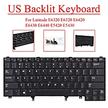 US Backlit Keyboard For Dell Latitude E6320 E6320 E6420 E6430 E6440 E5420 E5430