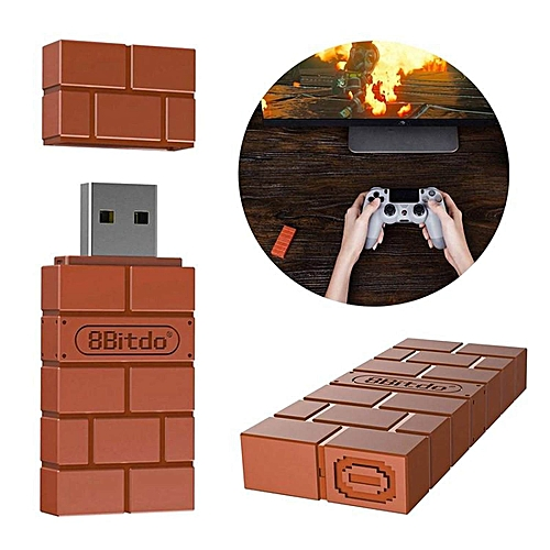 LEBAIQI Portable 8Bitdo USB Wireless Bluetooth Adapter Gamepad Receiver for  Windows/Switch Lightweight and Mac & Raspberry Pi