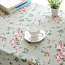 Rectangle Pastoral Style Thicken Cotton Linen Tablecloth Tableware Mat Desk Cover Home Decor 140*140cm