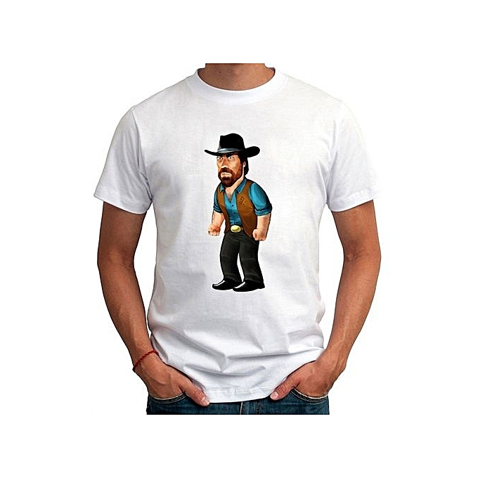 49645d3c0 Hot Sale Summer Fashion Chuck Norris Cartoon Printed Tshirts Custom Made  Men Round Neck Short Sleeves