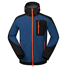 Mens Outdoor Soft Shell Jacket Coat Waterproof Windproof Hooded Detachable Camping Hiking Leisure