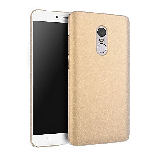 new arrival 0c8d2 9092d For Xiaomi Redmi Note 4 Luxury Plastic Hard Phone Back Case Cover (Gold-1)