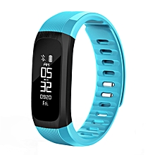 Smart Bracelet Fitness Tracker Heart Rate Monitor IP67 Waterproof Pedometer Wristband - Blue