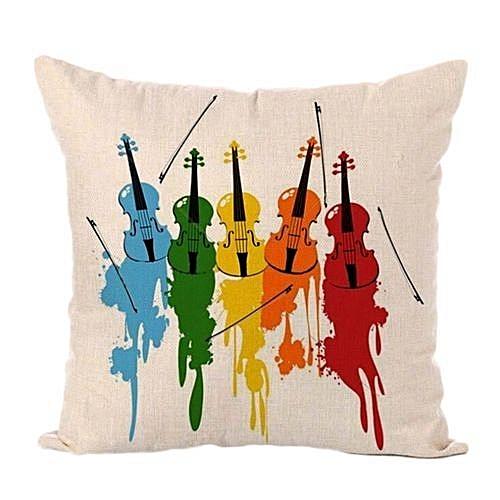 45*45cm Super Soft Music Letter Pillow Sets Of Cotton And Linen Car Sofa Cushions Pillow
