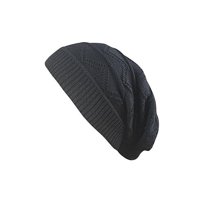 f81645b179a Eissely Men Women Winter Fluff Crochet Hat Wool Knit Beanie Warm Caps