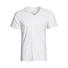 Fitting V-Neck T-Shirt - White