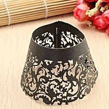 Filigree Vine Cupcake Cake Wrappers Wrap Case Wedding Birthday Decor Color Black