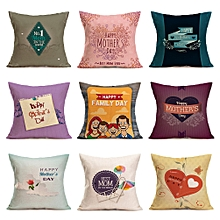 Honana WX-P3 43x43cm Mother's Day Gift Flower Cotton Linen Pillow Case Cushion Cover Home Car Decor