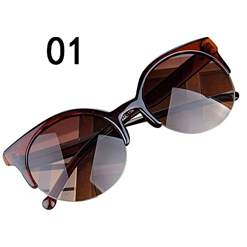 471eca0b6dc Fashion Vintage Sunglasses Cat Eye Semi-Rim Round Sunglasses For Men Women Sun  Glasses