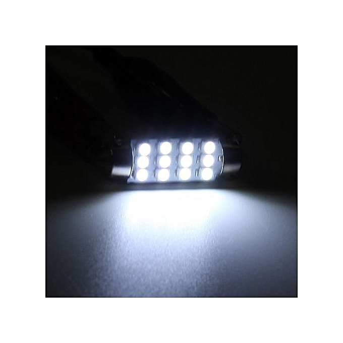 Automobiles & Motorcycles 10x 3528 12 Smd Led Auto Car Interior Festoon Dome Bulbs Lamp Light Dc 12v 41mm