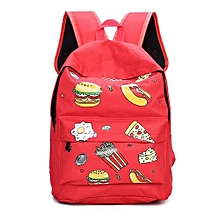 Women's Canvas Travel Rucksack Hobo School Bag Satchel Bookbags Unisex Backpack