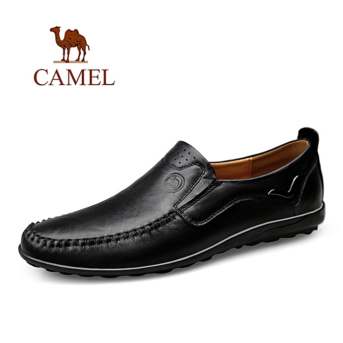 22fc0304315b2 Camel fashion Men's Loafers Handmade Moccasins Leather Shoe Casual shoes- black