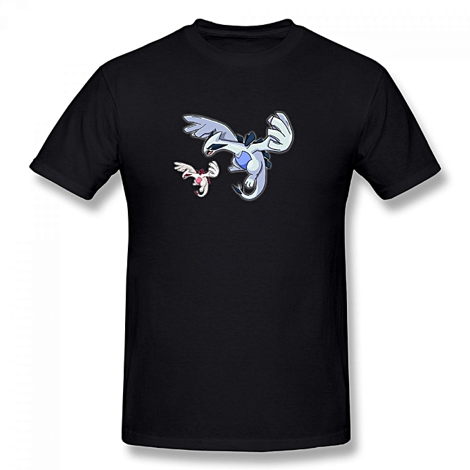 faf60b42 Generic Lugia Art Men's Cotton Short Sleeve Print T-shirt Black ...