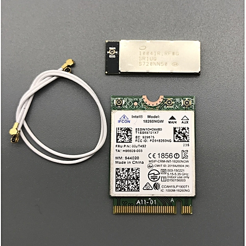 With Gigabit WiGig Antenna-M 10041R set For Intel 18260 18260NGW 802 11ac  867Mbps Bluetooth 4 1 WiFi card( )