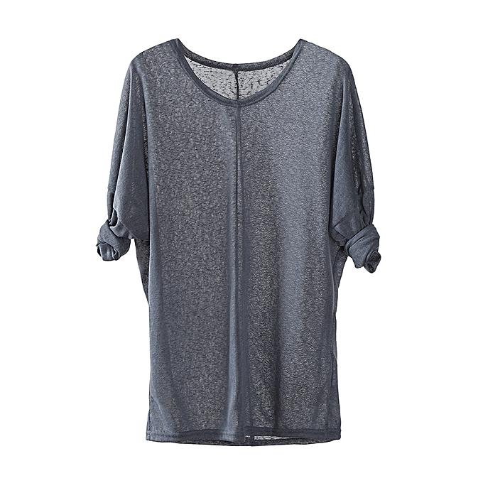 a8fa538e118a99 Shitucs Shop Women Casual Chiffon Short Sleeve Splice Lace Crop Top Blouse