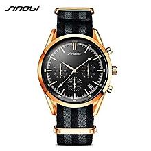Black Quartz Mens' Wrist Watch